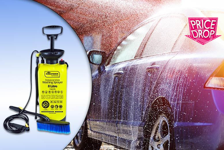 £12 instead of £39.99 (from Groundlevel) for an 8L high pressure washer - save 70%