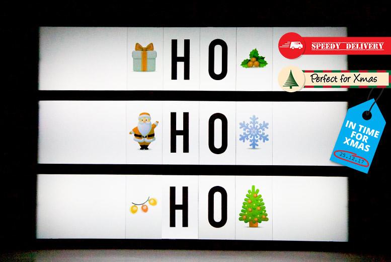 A4 Christmas Emoji LED Lightbox for £9.99