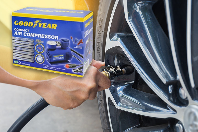 Goodyear Lightweight Mini Air Compressor with 3m Cord for £9.99