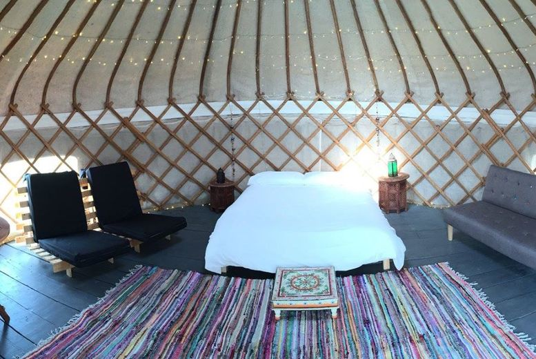 £119 (at The Hollies Kessingland) for a three-night weekend or four-night weekday break for up to six in a 'Glamtainer' or £139 in a Yurt