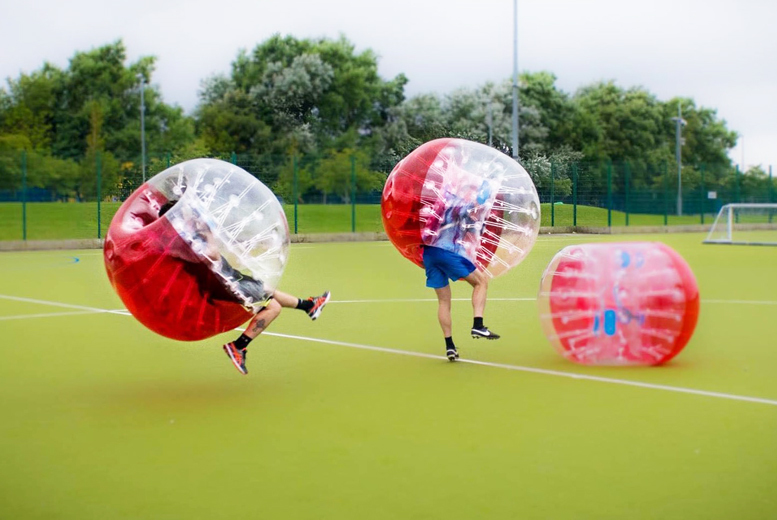£99 for a one-hour bubble football experience for 10 people, £149 for 20 people with Spartacus Bubble Soccer - choose from five locations and save up to 67%