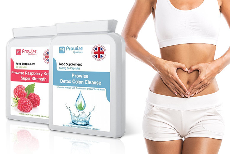 1-Mnth Supply* of Raspberry Ketones & Colon Cleanse Capsules for £14.99