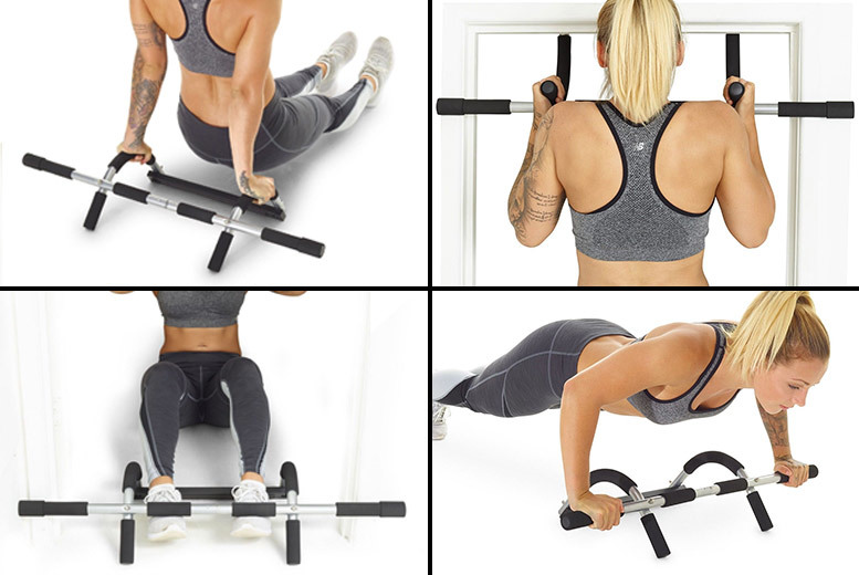Door Gym Upper Body & Core Workout Bar for £9.99
