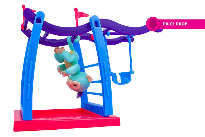 Interactive Finger Monkey Play Gym with Swing for £10.99