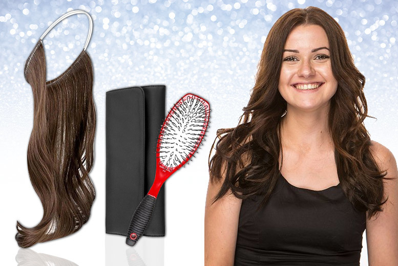 Secret Hair Extensions with Storage Case and Hair Brush for £39.99