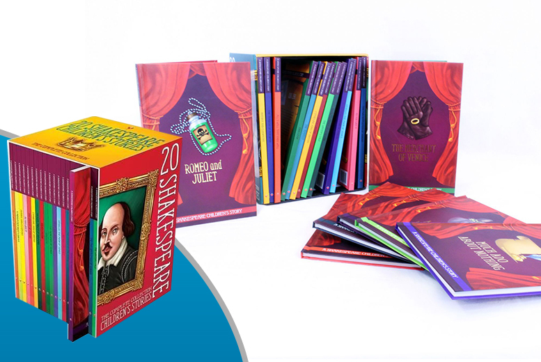 £12.99 instead of £119.80 for a set of 20 hardback Shakespeare children's books - save 89%