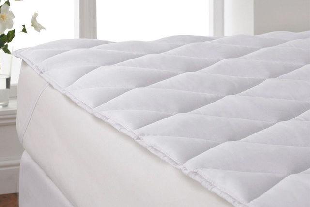 diamond-stitched mattress topper