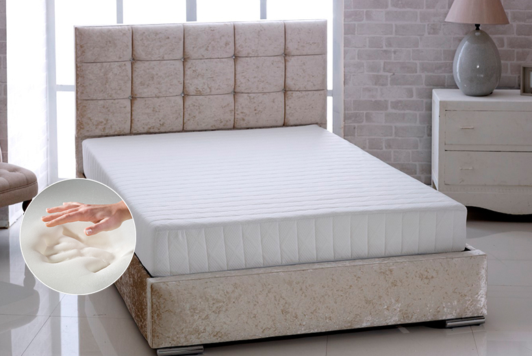 From £59 for a luxury Bonnell sprung memory foam mattress - choose single, double, small double or king size and save up to 74%