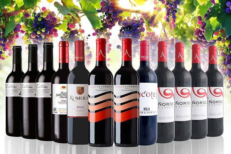 Rioja Spanish Red Wine Collection – 12 Bottles! for £49.99