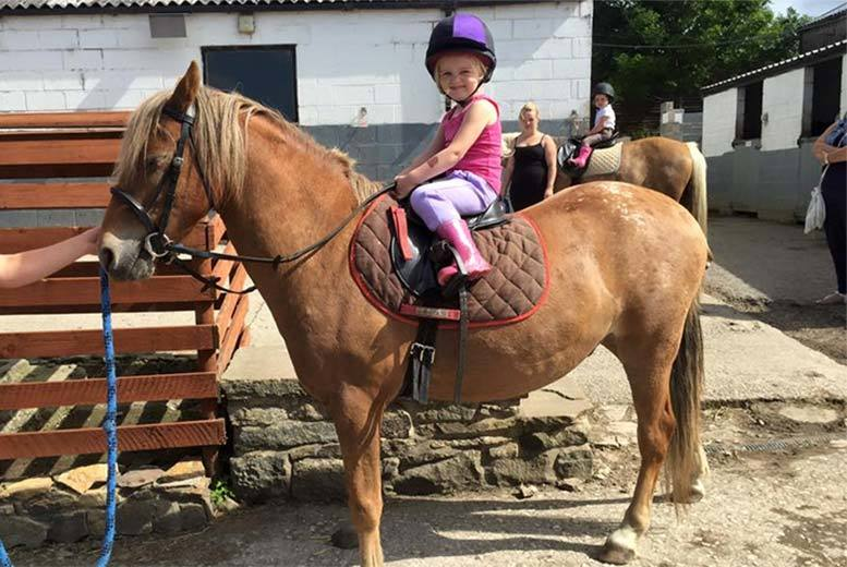 £7 instead of £14 for a 30-minute private horse riding lesson at Sunnybank Equestrian Centre, Sheffield, £20 for three lessons - save up to 50%