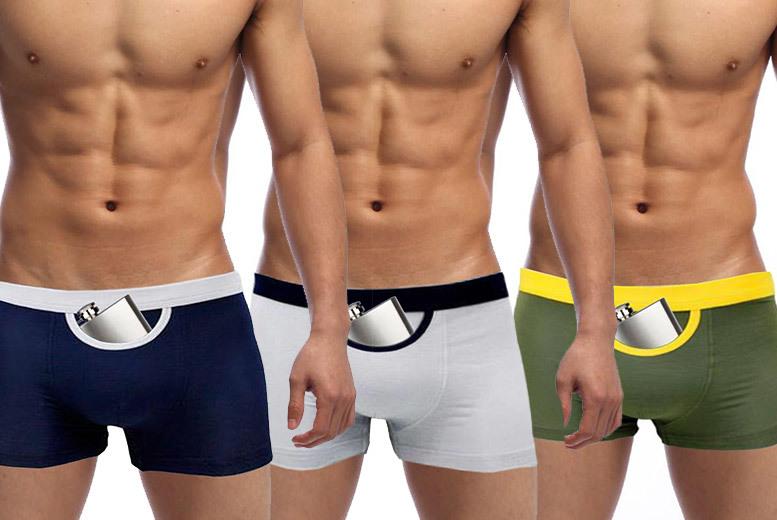 Men's Secret Pocket Boxers – 3 Colours! for £4.99