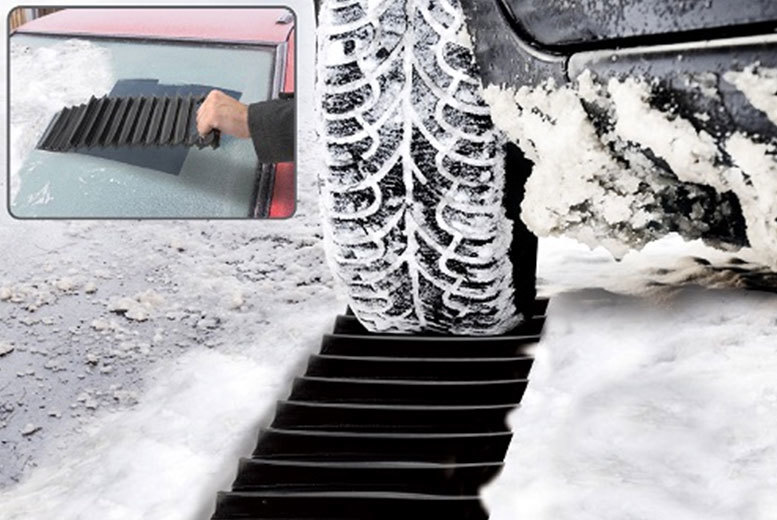 2-in-1 Car Ice Scraper & Traction Mat for £5.99