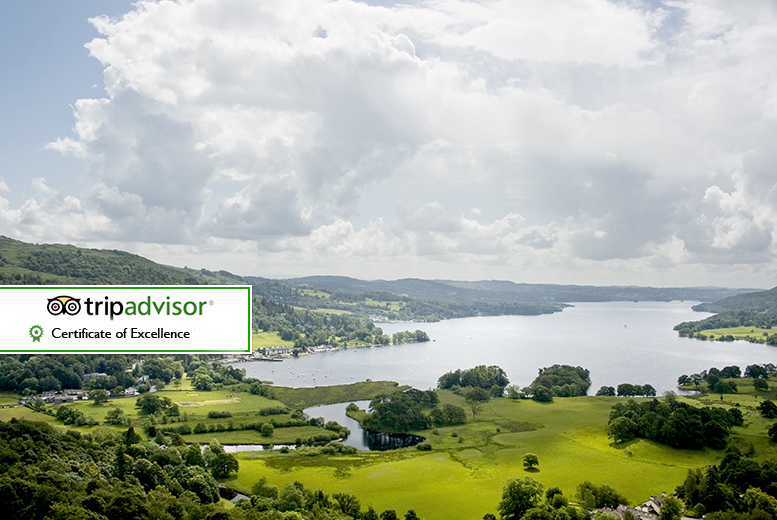 £139 for a two-night Lake District break for two people with spa access and breakfast,  £189 including a three-course dinner and Windermere cruise - save up to 44%