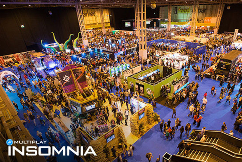 £14 instead of £20 for a day visitor ticket to Insomnia Gaming Scotland at the EICC in Edinburgh on 30th April or 1st May 2016 - save 30%