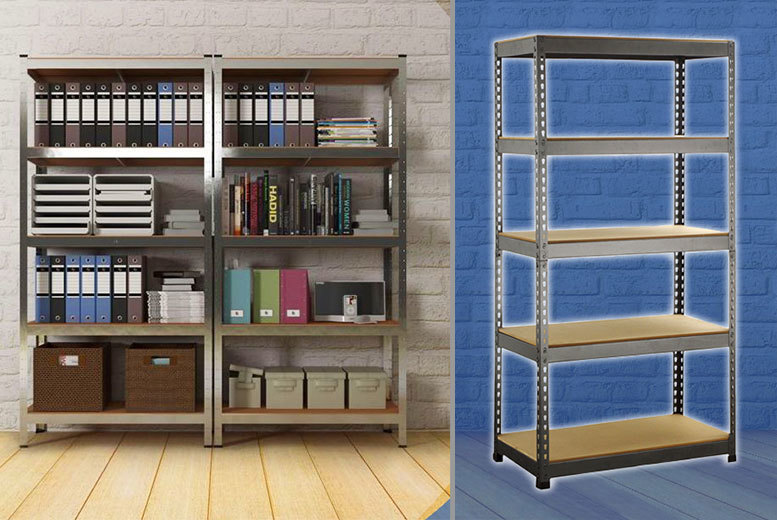 £20 instead of £193 (from TLD Marketing) for a small 5-tier set of storage racking or £26 for a large set - save up to 90%