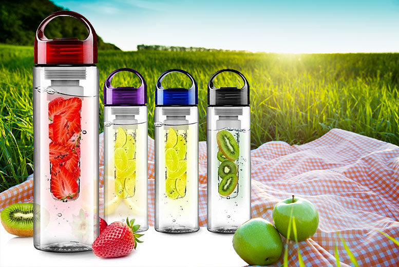 Fruit-Infusing Bottle - 5 Colours!
