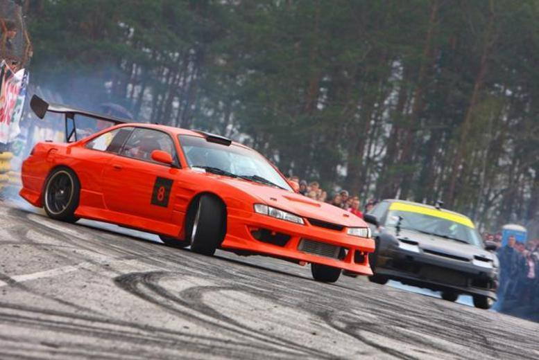 £19 for a drift 'taxi' passenger experience with three laps, £29 for six laps, £89 for a bronze package, £259 for silver at Driftland UK, Lochgelly - save up to 72%