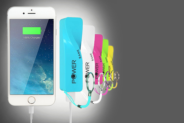 £4.99 instead of £29.99 (from ClickWrap) for a twisted Powerbank smartphone charger - choose from six colours and save 83%