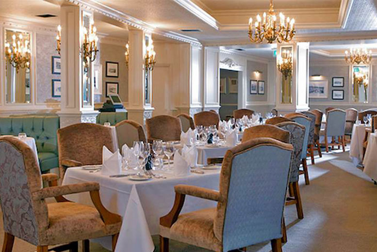 From £79 for a Bournemouth stay for two people with dinner, sparkling wine, breakfast and leisure access, from £89 to include an afternoon tea at The Royal Bath Hotel - save up to 57%