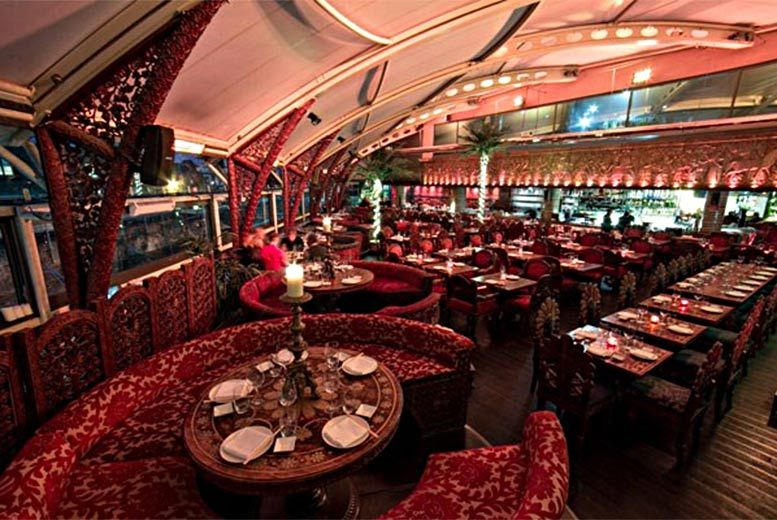 £47.50 a three-course dinner and champagne cocktail for two at Gilgamesh, Stables Market in Camden from Buyagift - save up to 51%