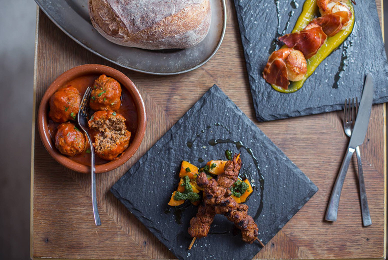 £34 instead of £90 for a seven-dish tapas tasting menu for two with a glass of cava each at Salvador and Amanda, Bloomsbury - save 62%