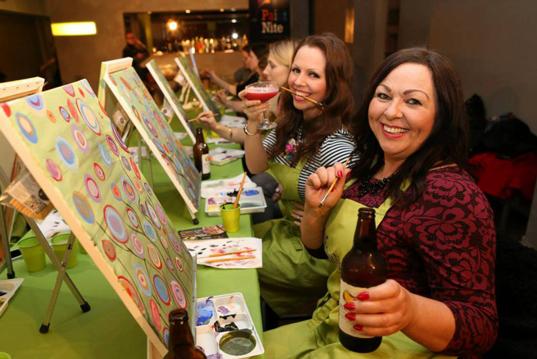 £25 instead of £45 for entry to a two-hour Paint Nite event, £49 for two people or £90 for four people - choose from five locations and save up to 44%