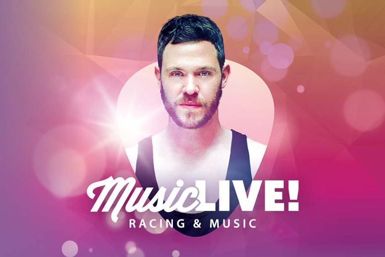 £48 instead of £96 for two county stand tickets to the races, a racecard each and a live set by Will Young at Doncaster Racecourse - save 50%