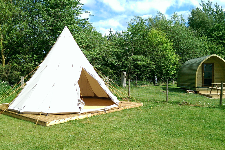 From £69 for a two-night glamping experience in the Yorkshire Wolds for two people with Yapham Holds Farmhouse