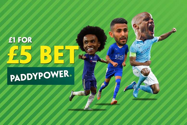 £1 for £5 in-store betting credit at Paddy Power - save 80%
