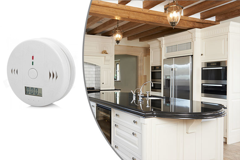 £6.99 instead of £19.99 for an LED carbon monoxide and gas detector - safeguard your home and save 65%