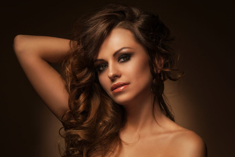 £12 for a cut, blow dry and conditioning treatment plus an additional treatment, £21 to include an eyebrow wax and Polygell nails at B'Blushed, Belfast - save up to 68%