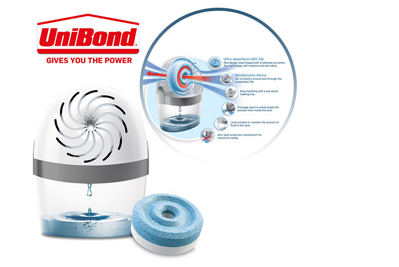UniBond Aero 360° Pure Moisture Absorber System with Refill