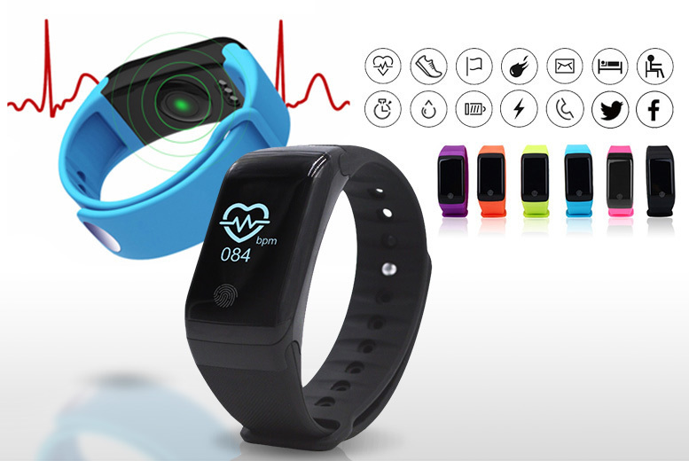 HR10+ 18-in-1 Fitness Tracker with Heart Rate & Blood Oxygen Monitor – 5 Colours! for £19.99