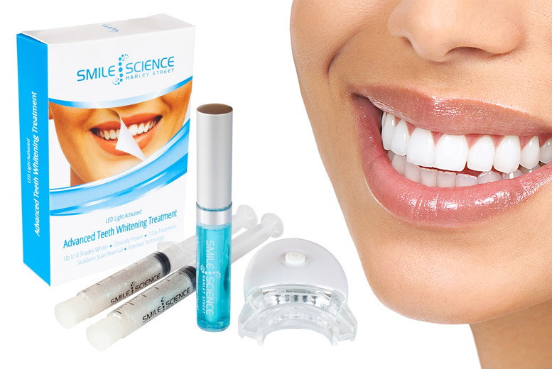 Smile Science LED Activated Advanced Whitening Treatment for £14.99