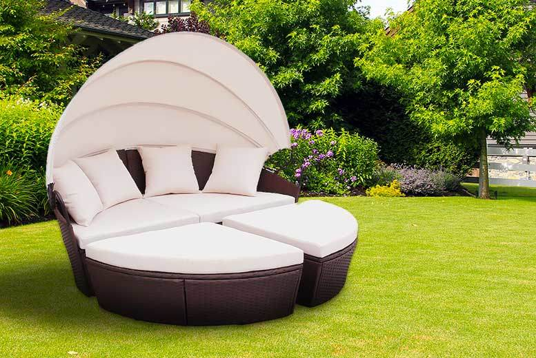 £329 instead of £1,299 for a rattan Bali-style day bed - save 75%
