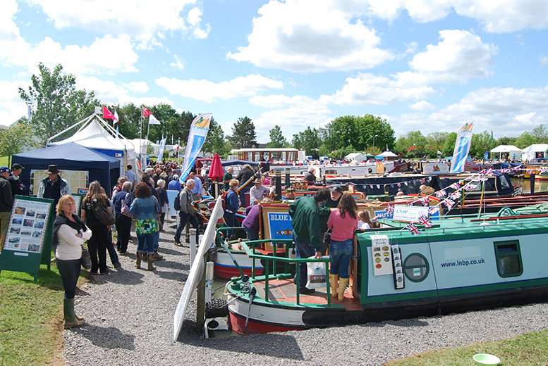 £12 instead of £27.99 for two adult tickets to the Crick Boat Show on Monday 30th May 2016 at Crick Marina plus a copy of Waterways World magazie - save 57%