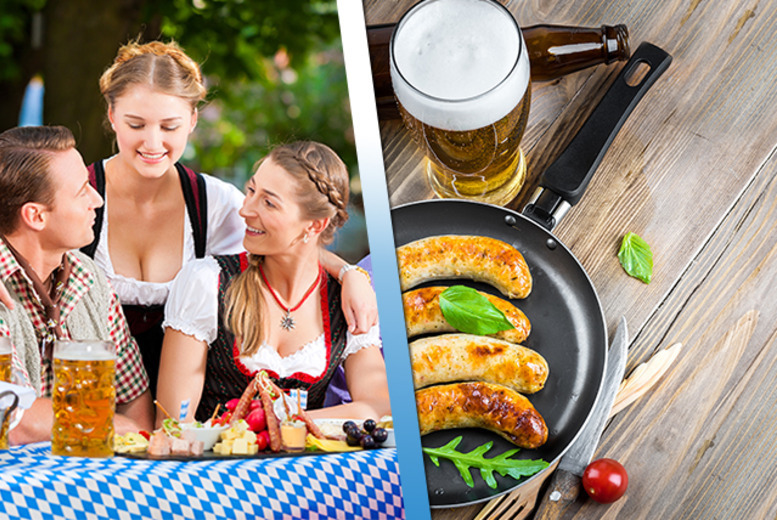 £9 instead of £18 for two tickets on 26th or 29th May 2016 to Bierfest, Derby Market Place including beer and Bavarian sausage - save 50%