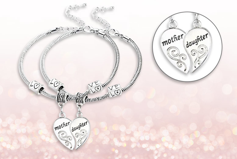 Mother & Daughter Matching Charm Bracelets for £9.00