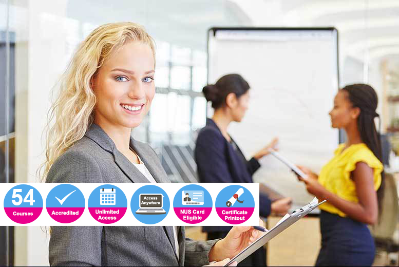 Accredited Business, HR & Professional Skills Course Bundle - 54 Courses!