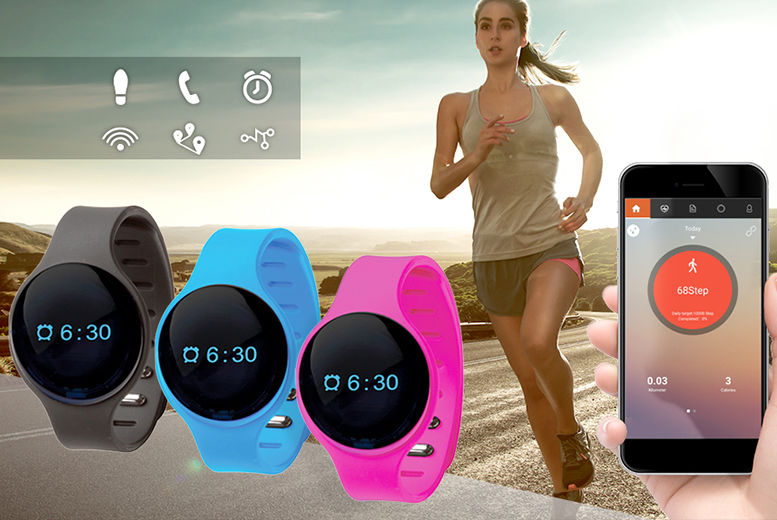 9-in-1 Touchscreen Bluetooth Activity Tracker – 3 Colours! for £7.99