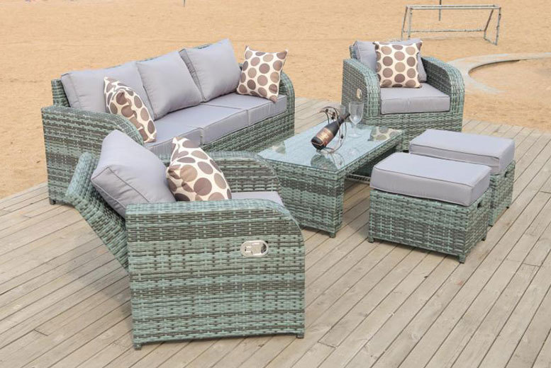 Rattan Recliner Lounge Set – 3 Colours! for £499.99
