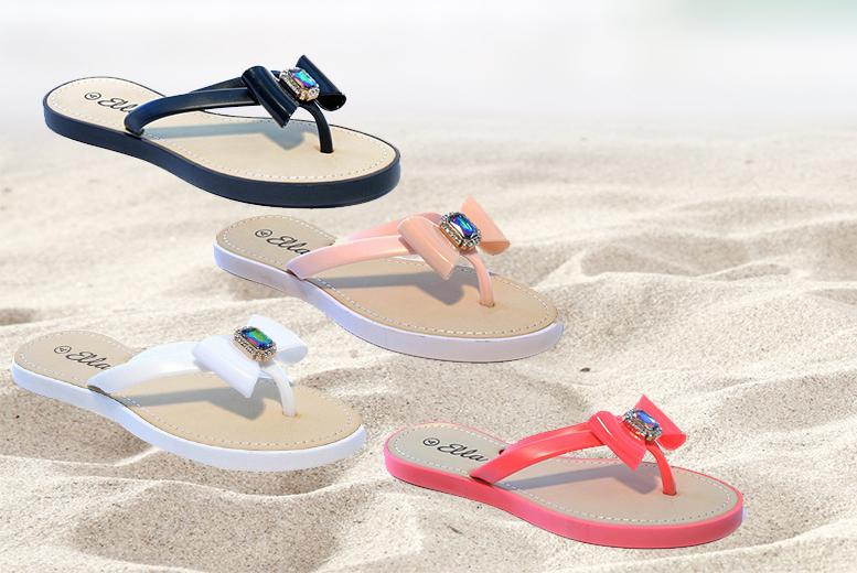 Summer Bow Flip Flops - 4 Colours!