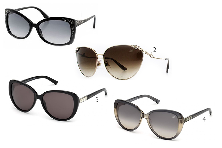 From £49 instead of £125 for a pair of Swarovski sunglasses - choose from 10 styles and save up to 60%