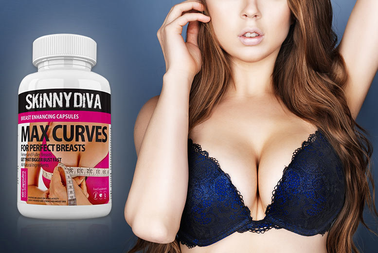 £9 instead of £39.99 (from Skinny Diva) for a one-month* supply of 'breast enhancement' capsules, £19 for a three-month* supply - save up to 77%