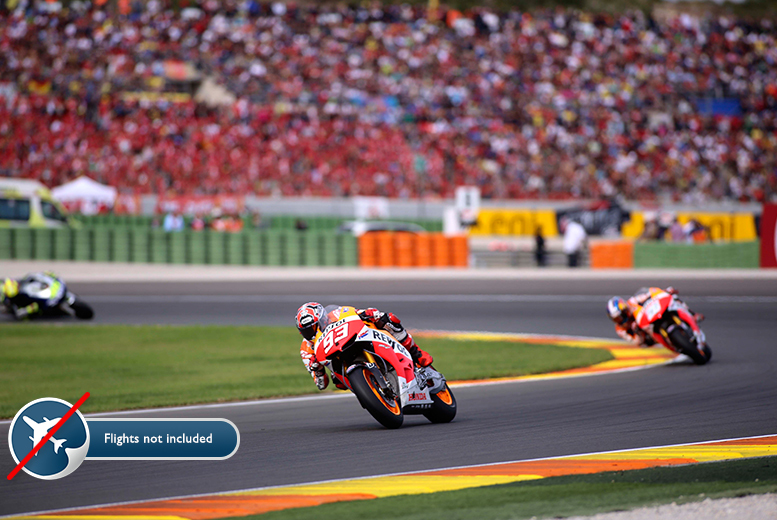 From £139pp (from EuroPlayas) for a two-night Moto GP break in Valencia including hotel accommodation, breakfast and tickets to all three days of racing!