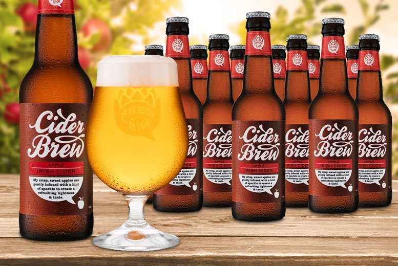 £9 instead of £29.95 (from Brewhive) for twelve 330ml bottles of cider with a crystal engraved tasting glass - save 70%