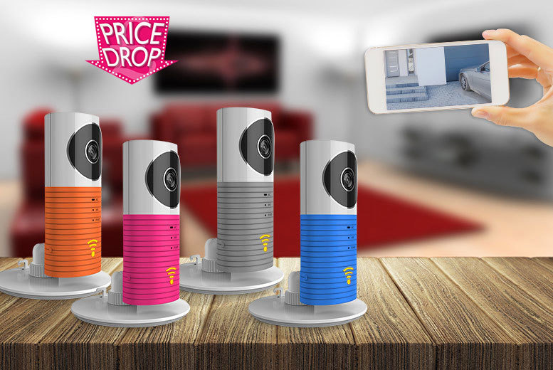 £19.99 instead of £99.99 for a smart CCTV camera in a choice of four colours - save 80%