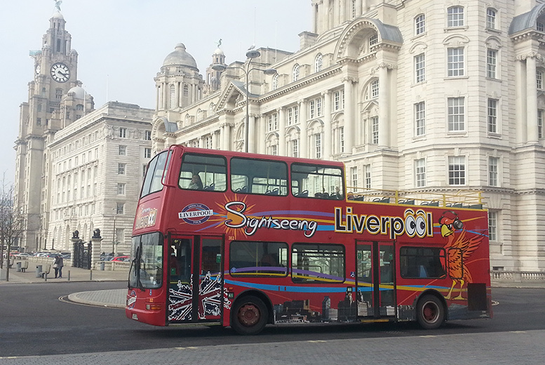 £9 instead of £20 for an open-top Liverpool sightseeing tour for two people, or £12.50 for a family of up to five people with Sightseeing Liverpool - save up to 55%
