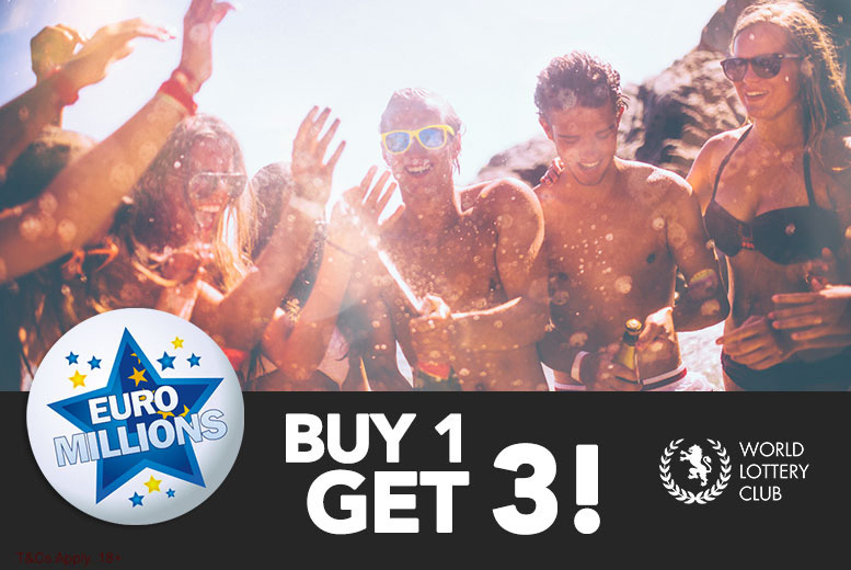£2 instead of £6 for three lines in a Euromillions bet from World Lottery Club - choose your lucky stars and save 67%