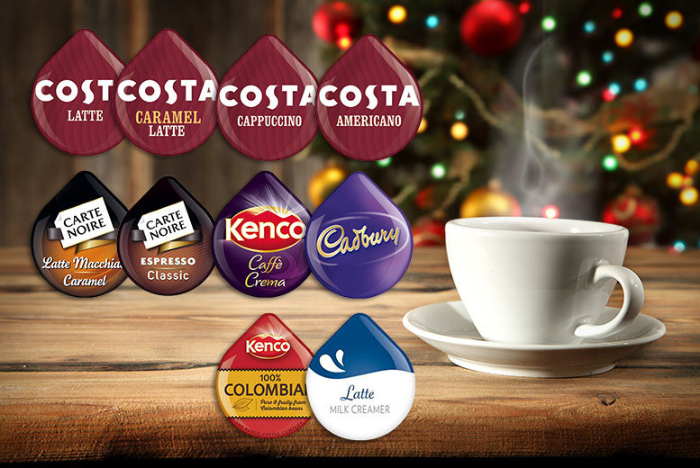 £9.99 instead of £24.99 (from The Coffee Market) for a mixed starter pack of 20 Tassimo T-Discs, £17.99 for 40 Tassimo T-Discs - save up to 60%